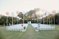 Balloon wedding ceremony decor idea #wedding #decoration #balloon