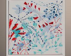 Pittura astratta pittura floreale di fiori originali Art