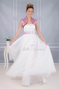Atelier Belle Couture   bodenlanges Brautkleid im Vintage Stil