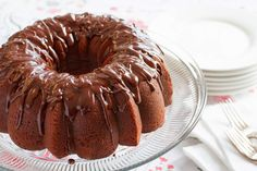 Chocolate Pound Cake ~ rich and decadent, this easy to make dessert is topped with a silky smooth chocolate glaze - perfect for the chocoholic in your life!