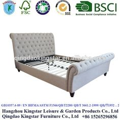 uphostered sleigh bed