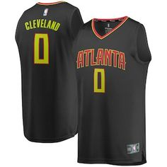 Antonius Cleveland Atlanta Hawks Fanatics Branded Youth Fast Break Replica  Jersey Black - Icon Edition 321bc7a6d