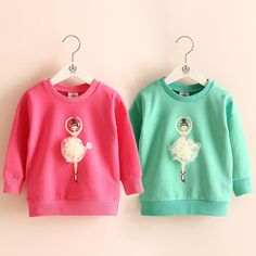 >> Click to Buy << 2016 Autumn Children'S Clothing Girls Pullover Sweatshirt Outerwear Baby Little Kids Dancing Gril Tops Free Shipping #Affiliate