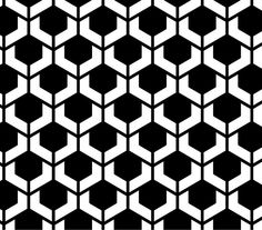 turtle shell geometric pattern in black and white which inspires me for a few ideas for my bag.