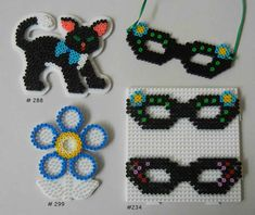 Inspiration for playing with Hama Beads Beaded Bookmarks, Bookmarks Kids, Fuse Bead Patterns, Beading Patterns, Bead Crafts, Arts And Crafts, Nail Color Trends, Hama Beads Design, Peler Beads