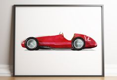 Race car wall print for kids room decoration