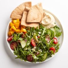 Hummus & Greek Salad - EatingWell.com