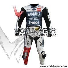 Lorenzo Yamaha Mens One Piece Motorbike Motorcycle Leathers Racing Suit