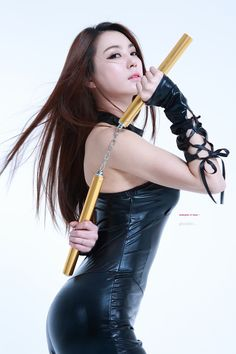 Ju DaHa #주다하 Cosplays with Weapons