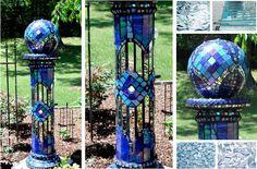 design wizards garden spheres orbs and gazing balls, crafts, gardening, repurposing upcycling