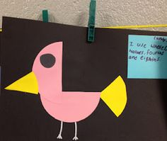 """using the book """"Picture Pie"""" to teach about fractions & have kids make their own art work with fractions of shapes"""