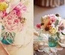 Real Weddings and Wedding Inspiration Ideas | Mason jars mugs, wooden hang tags, & paper straws | 100 Layer Cake