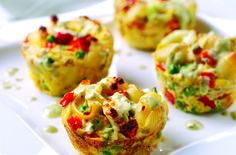 Mini vegetable frittatas recipe - goodtoknow