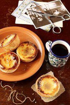 Pastéis de Nata, Portuguese Custard Tarts, one of the most famous portuguese sweet pastries