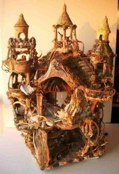 exquisite faerie castle - natural materials