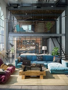 32 Stylish Interiors All Men Will Love &; interiors loft Love Me 32 Stylish Interiors All Men Will Love &; interiors loft Love Me Manja SirHoover Home sweet Home 32 […] Room apartment men Industrial House, Industrial Interiors, Industrial Loft Apartment, Warehouse Apartment, Warehouse Living, Warehouse Loft, Studio Apartment, Industrial Style, Modern Loft Apartment