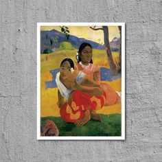 1892 Nafea Faa Ipoipo // Artist: Paul Gauguin // Oil on Canvas // High Quality Fine Art Reproduction Giclée Print // Famous Vintage Painting by WiredWizardWeb on Etsy