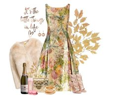 """""""The little things"""" by kimzarad1 ❤ liked on Polyvore featuring Adrianna Papell, Chanel, Dyrberg/Kern and Kenneth Jay Lane"""