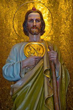 St. Jude St Judas, Medusa Art, Pictures Of Jesus Christ, Religious Tattoos, Angel Statues, Mother Mary, St Michael, Roman Catholic, Virgin Mary