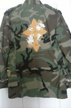 DIY Camo jacket by Cassi Poindexter