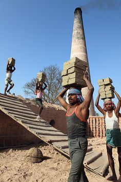 Brick factory workers