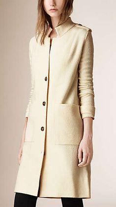 Silk Wool Bouclé Cardigan Coat