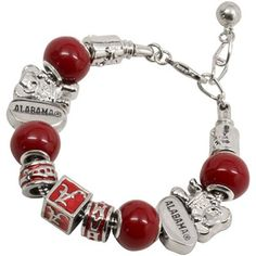 #Alabama Crimson Tide Ladies Bev Bracelet  #NCAA #CollegeFootball  For Great Sports Stories, Funny Audio Podcasts, and Football Rules Tutorial www.RollTideWarEagle.com