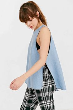 Laundry Room Split-Up Tank Top - Urban Outfitters