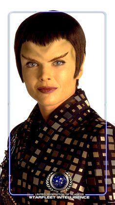 STARFLEET INTELLIGENCE: Female Romulan, Romulan Star Empire, Alpha/Beta Quadrant(s) [STAR TREK The Next Generation, Deep Space Nine, Enterprise]. Side note: Deviously sexy.