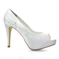 Sapato Peep Toe Noiva Divalesi - 86058 - Branco