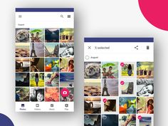 Photos gallery and its selection on long press Material Design, The Selection, Photo Galleries, Photo Wall, Polaroid Film, Photo And Video, Gallery, Photograph, Roof Rack