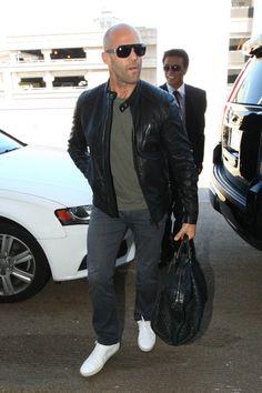 Jason Statham Photos: Rosie Huntington Whiteley and Jason Statham Spotted at LAX