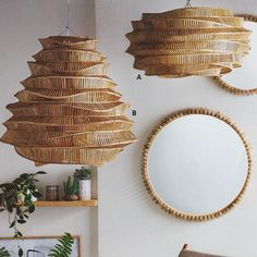 Roost Bamboo Cloud Chandelier use traditional bamboo weaving techniques to create pendant lighting. Lampe Art Deco, Deco Luminaire, Modern Lighting, Outdoor Lighting, Cafe Lighting, Bamboo Light, Bamboo Art, Bamboo Weaving, Bamboo Furniture