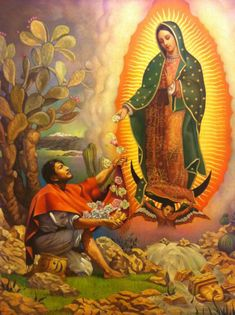 Saint of the Day – The Feast of Our Lady of Guadalupe – 12 December – Our Mother of Guadalupe, The Madonna of Tepeyac, Tonantzin – The First Apparition was on 12 December 1531 and was approved by the Holy See on 12 October 1895, during the Canonical coronation granted by Pope Leo XIII – Patronages:  of Americas; New World, Central America, Mexico, New Mexico, Pojoaque Indian Pueblo, 12 dioceses, 3 cities.....