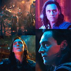 #TomHiddleston as #Loki in #Avengers: #InfinityWar And they say Loki is on Thanos's side! She's pointing her blaster at him!!