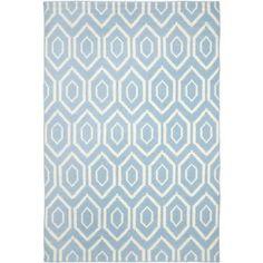 Blue & Ivory Hexagon Rug