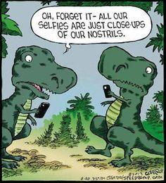 T-Rex Selfies - for @Rachel Kluesner
