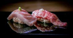 Bluefin fatty Tuna and Wagyu strip loin at Kusakabe in SF