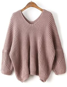 Womens Fall Sweaters Knitwear High Fashion Sweater for Women Sexy Fall Tops V Neck Drop Shoulder Oversized Sweater Pullover Outfit, Pullover Mode, Pullover Shirt, Pullover Sweaters, Sweater Fashion, Sweater Outfits, Fall Outfits, Pink Sweater, Legging Outfits