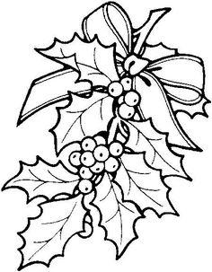 Hojas de acebo - Dibujalia - Dibujos para colorear - Navidad ...