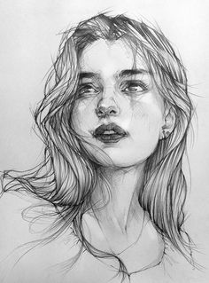 The video process of drawing with Pencil Pencil Portrait Drawing, Portrait Sketches, Pencil Art Drawings, Portrait Art, Pencil Sketches Of Faces, Drawing Portraits, Art Drawings Beautiful, Art Drawings Sketches Simple, Realistic Drawings