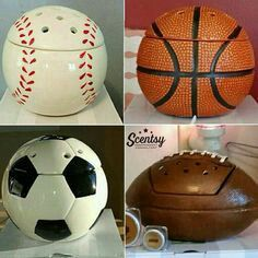 Does your child play a sport or have a sports themed room? Baseball, Basketball, Soccer and Football scentsy warmers https://mainville.scentsy.us