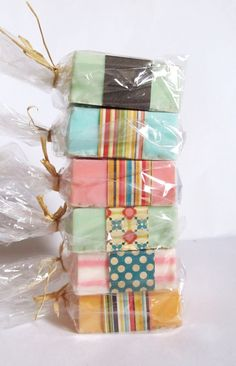 6 pack SOAP Gift Set handmade soaps stocking by kitschandfancy, $30.00
