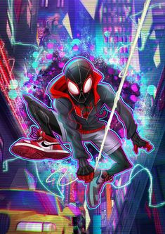 Miles Morales - Ultimate Spider-Man, Into the Spider-Verse Ultimate Spider Man, Ultimate Marvel, Marvel Comics Art, Marvel Heroes, Marvel Fan Art, Ms Marvel, Captain Marvel, Marvel Avengers, Comic Kunst