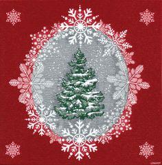 IHR Beau Sapin Christmas Tree Paper Linen Dinner Napkins Wholesale DFP70410