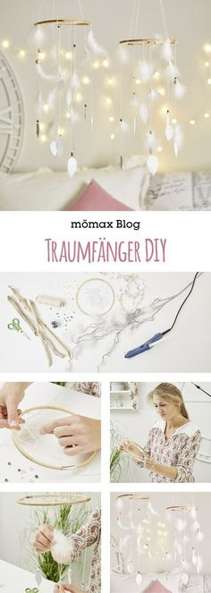 Dream Catcher DIY- Traumfänger DIY Simply make Dreamcatcher yourself! Instructions on the … - Diy Tumblr, Diy Kids Room, Diy For Kids, Diy Décoration, Easy Diy, Diy Pinterest, Bohemian Crafts, Decoration Tumblr, Diy Bebe