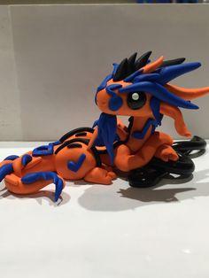 Polymer clay dragon music dragon treble clef by KiwikoiOriginals