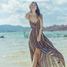 2017 sexy women summer Beach Bohemin long dress ukraine girls Holiday summer long backless maxi dress