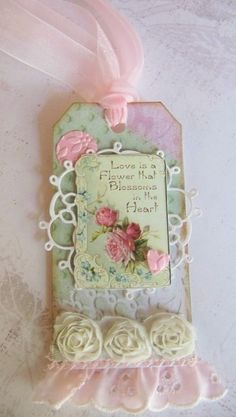 Nellies Nest: Shabby Chic Summer Love Tags