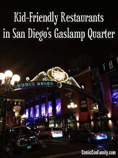 Taking a family trip to San Diego Comic-Con? Or visiting the Gaslamp Quarter on vacation? This post shares the family-friendly restaurants based on details like kid-friendly menu items, kid pricing (kid meals), high chairs & more.